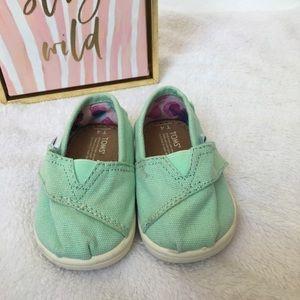 Tiny Toms Mint Infant / Toddler Slip on Shoes